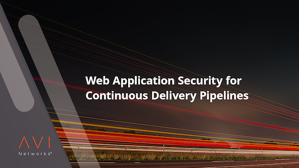 web-application-security-for-continuous-delivery pipelines