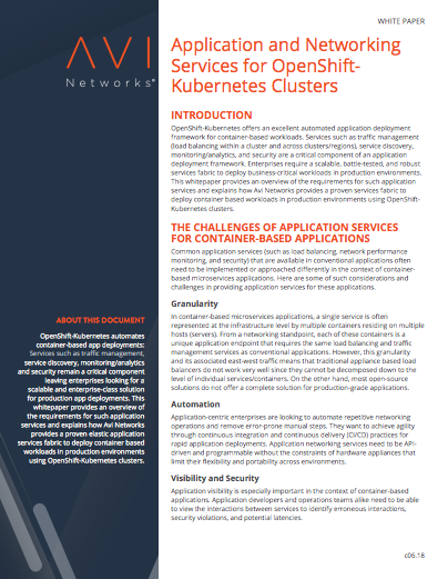 flat-application-services-for-kubernetes-clusters-white-paper